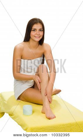 Beautiful Young Woman With Towel