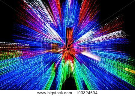 Multi-Colored Holiday Lights Abstract