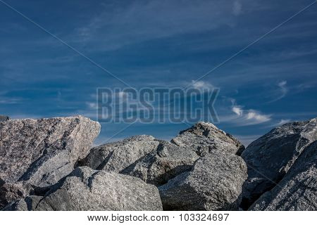 Sky and Boulders