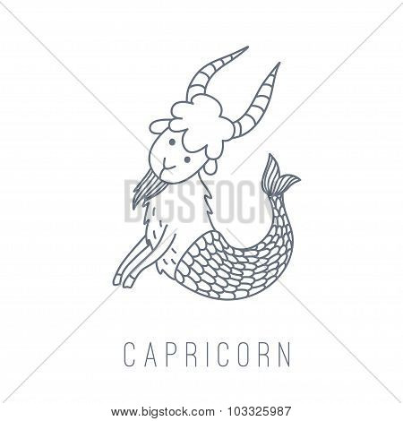 Illustration Of The Goat (capricorn)
