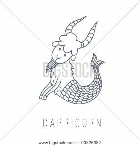 Illustration Of The Goat (capricorn)