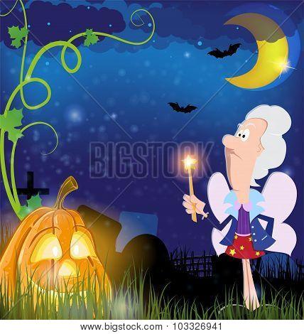 Fairy Godmother And Pumpkin