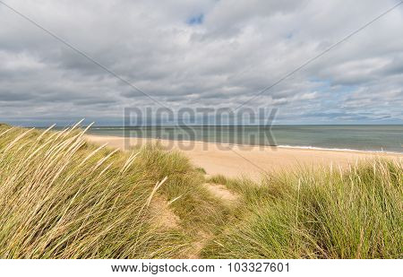 Sand Dunes At Winterton On Sea