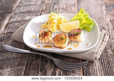 fried scallop