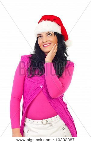 Beauty Woman Dreaming At Christmas