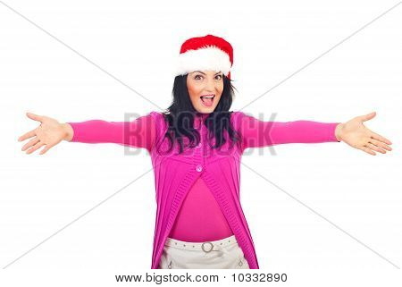 Cheerful Santa Helper Welcoming