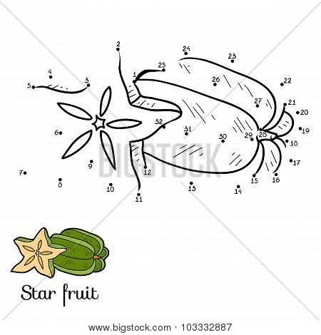Numbers Game: Fruits And Vegetables (star Fruit)