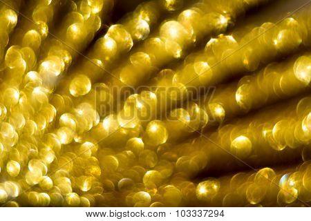 Golden Glittering Bokeh