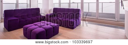 Purple Sofa Set