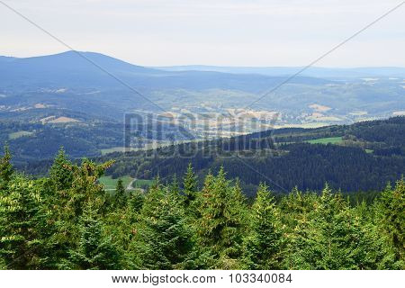 Lookout In Sumava National Park