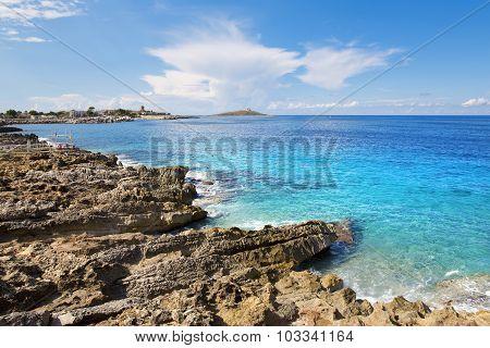 Island In Sea. Isola Delle Femmine, Sicily.