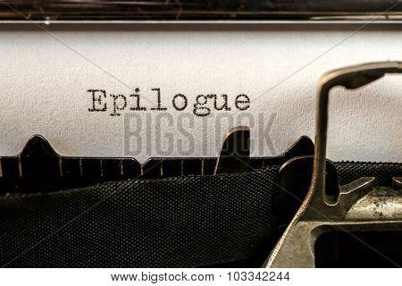 Epilogue Text Written By Old Typewriter