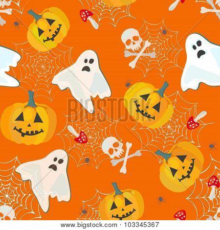 bright halloween pattern