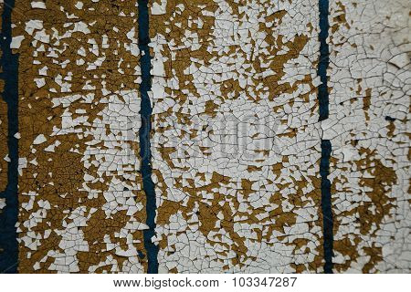Abstract Background, Old Cracked Plaster Wall, Blue Texture, Paint Stains And Cracks