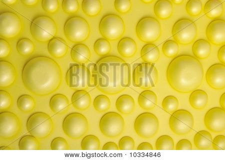 Abstract background of convexity the yellow balls