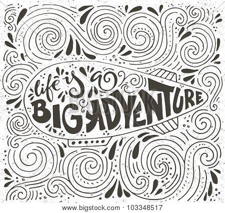 Big Adventure Typography