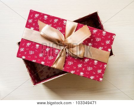 Gift Box On The Floor