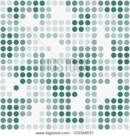 Green And White Polka Dot Mosaic Abstract Design Tile Pattern Repeat Background