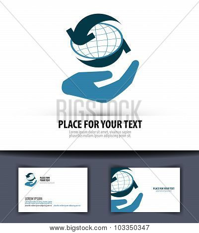 business vector logo design template. world or globe icon