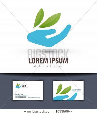 ecology vector logo design template. farm or gardening icon