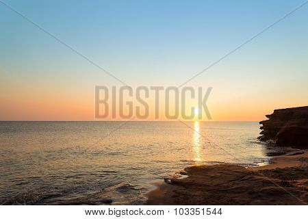 Ocean Coast At The Sunrise