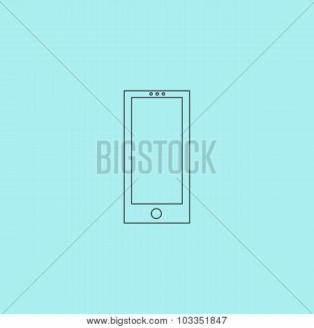 smartphone icon,vector illustration