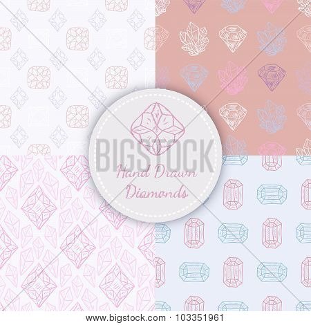 Vector Seamless Patterns Set