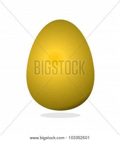 Golden Egg. Luxury Egg Of Precious Metal. Symbol Of Wealth.