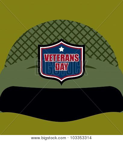 Patriot Day. Emblem On  Soldiers Helmet. Military Helmet. Traditional Celebration Of America.