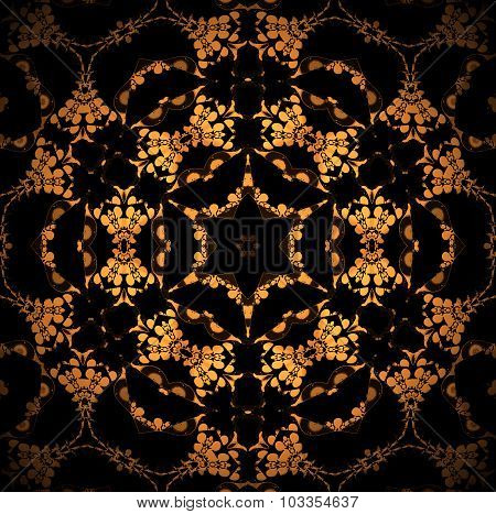 Seamless star pattern golden brown