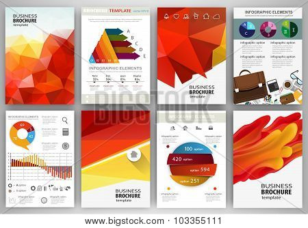 Red And Orange Backgrounds Abstract Concept Infographics And Icons