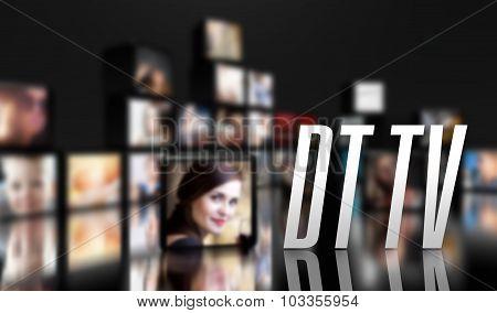 Dt Tv Concept Lcd Panels On Black