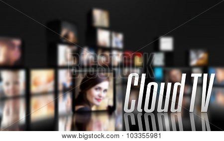 Cloud Tv Concept, Lcd Panels