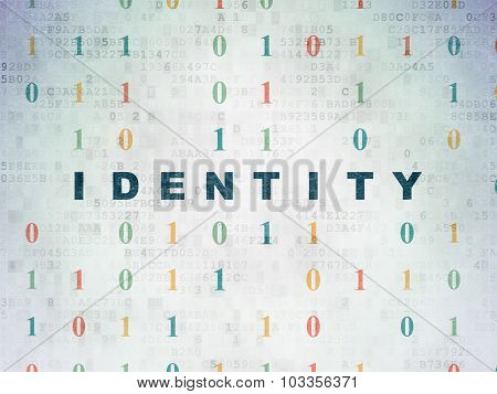 Protection concept: Identity on Digital Paper background