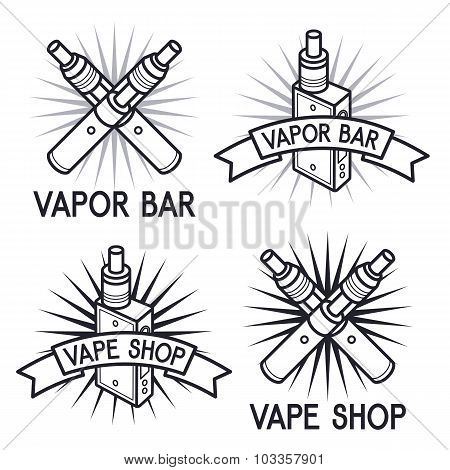 Vape Shop And Bar logos