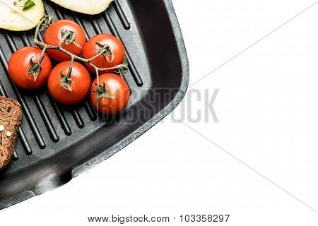 Fresh Vegetables On A Grill Pan