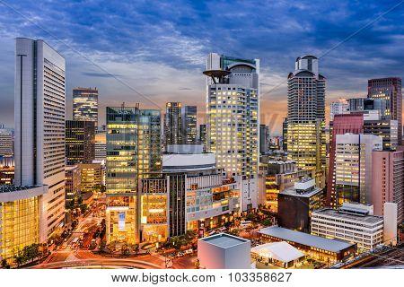 Osaka, Japan cityscape in Umeda.