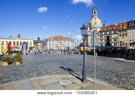 General View Of The New Market Square In Dresden
