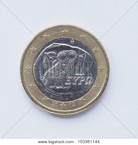 Greek 1 Euro Coin