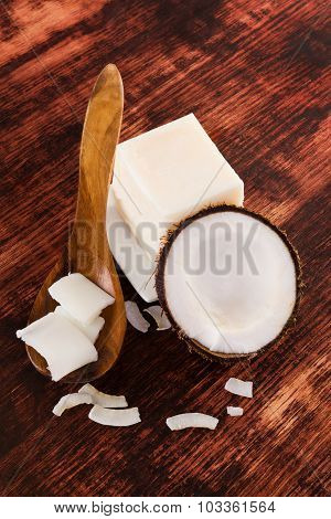 Coconut Oil Background.