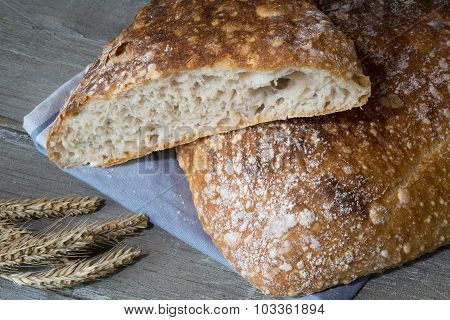 Rustic Organic Nordic Bread With Large Holes