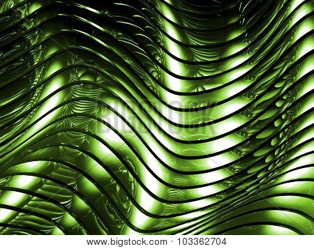 Green Metal Abstract Architectural Wallpaper