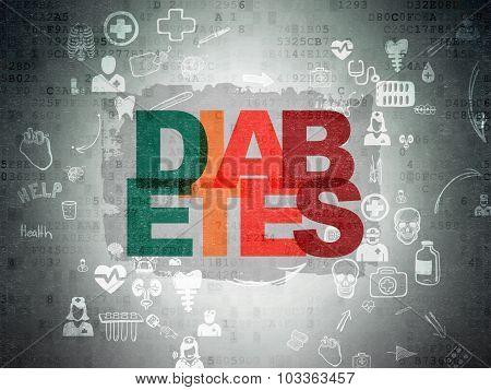 Medicine concept: Diabetes on Digital Paper background