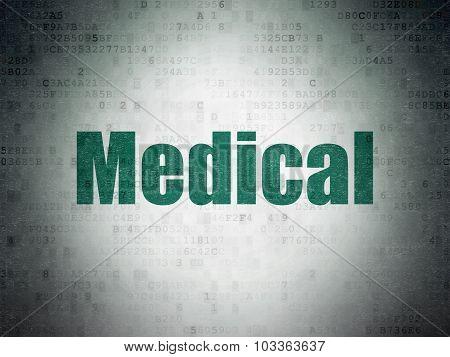 Medicine concept: Medical on Digital Paper background