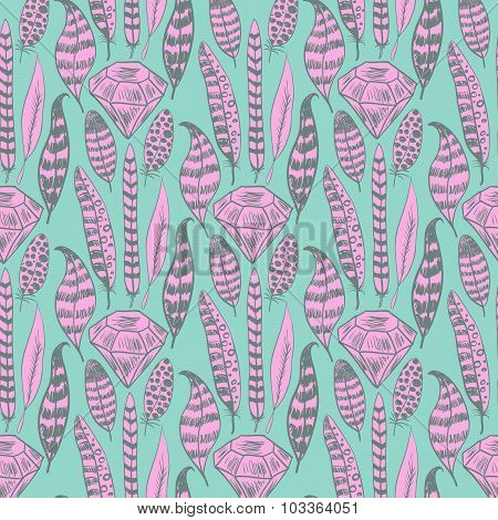 Doodle Hand Drawn Seamless Pattern