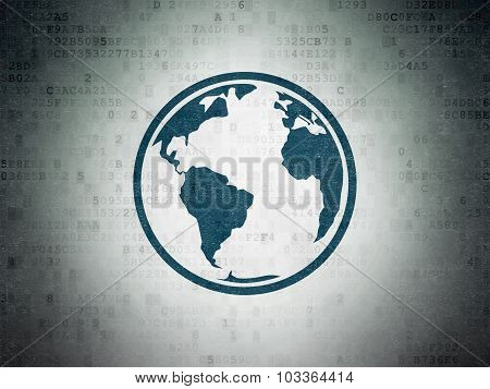 Science concept: Globe on Digital Paper background