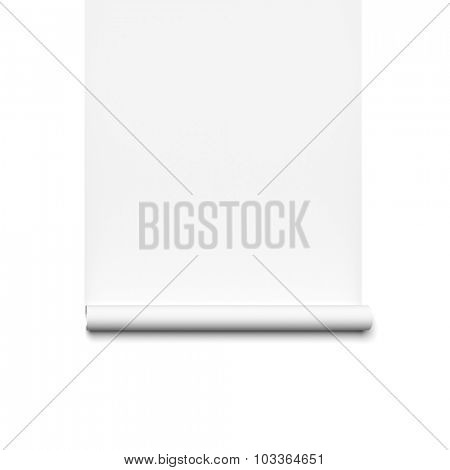 An image of a white paper role background