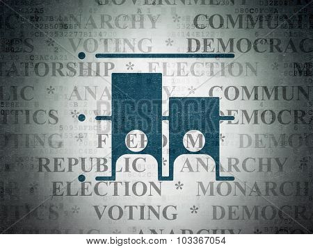 Political concept: Election on Digital Paper background