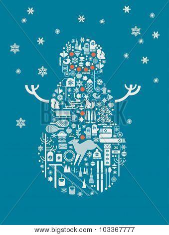 Illustration Of Snowman.