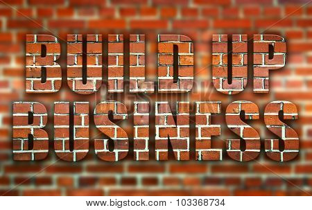 Build Up Business Made Of Bricks